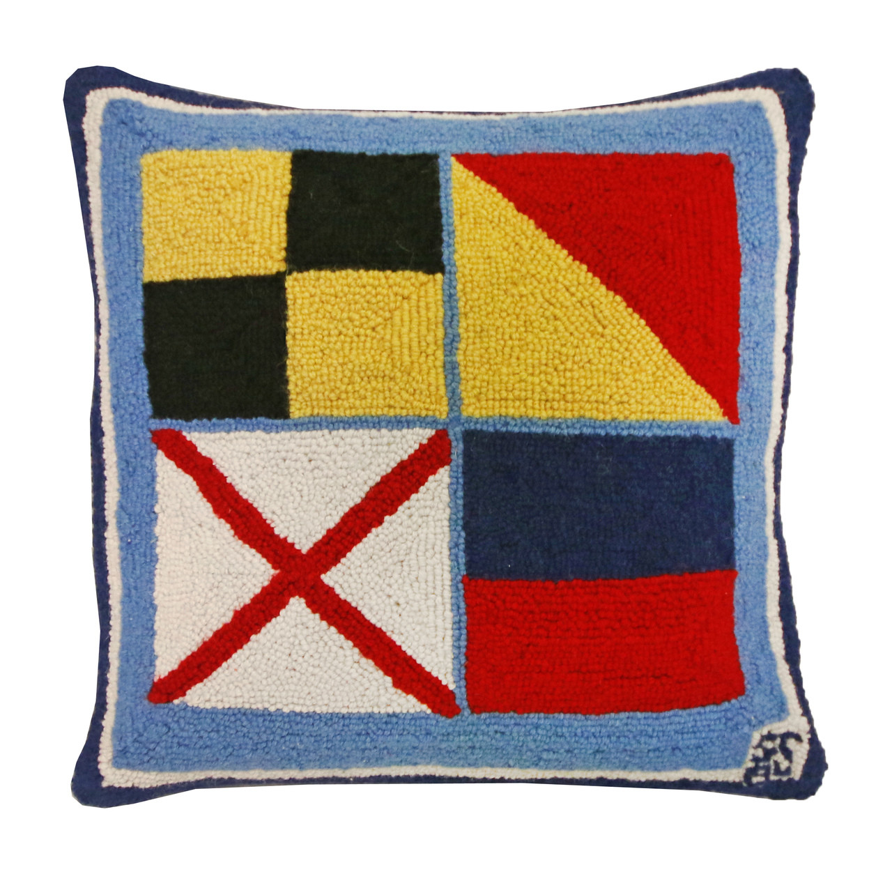 Nautical Love Hooked Pillow