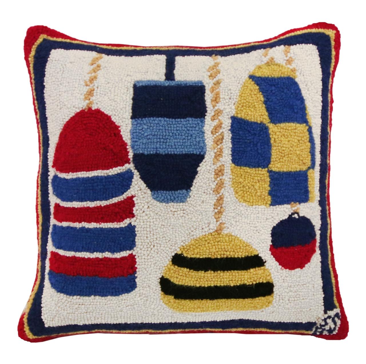 Buoys Hooked Pillow