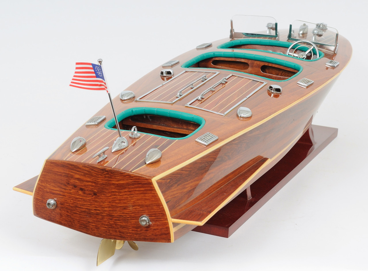 Chris Craft Triple Cockpit with Optional Personalized Plaque
