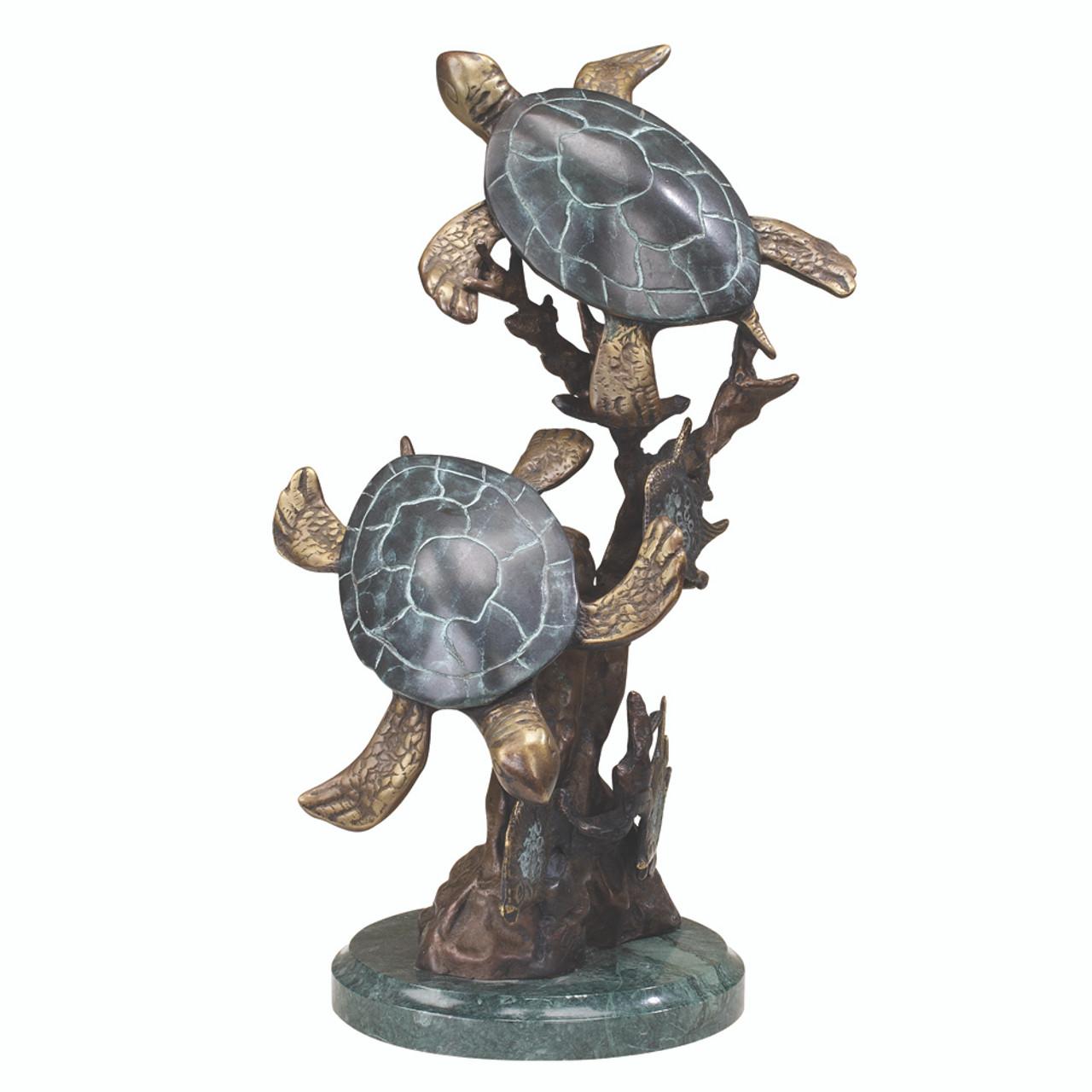 Sea Turtle Duet Sculpture