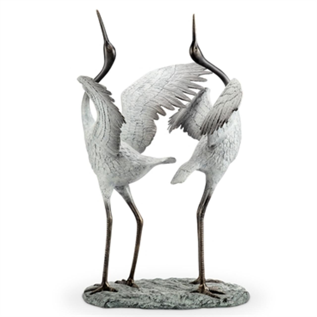 Good Fortune Garden Sculpture - Herons
