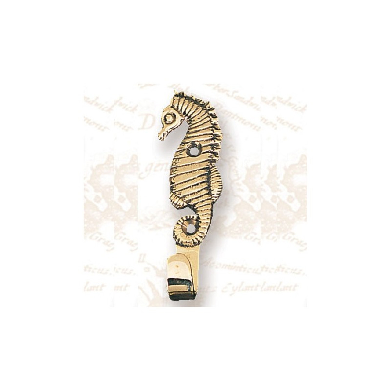 Brass Coat Hanger - Seahorse