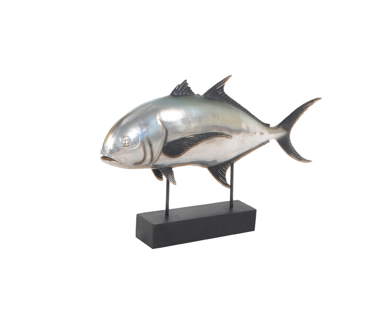 Tuna Fish Statue - Anodized Silver