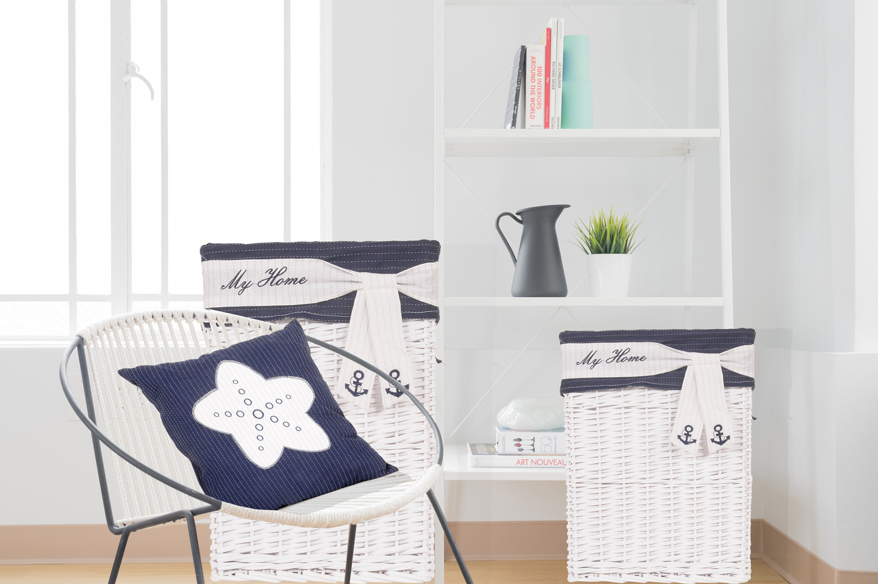 Blue Pillow with White Star