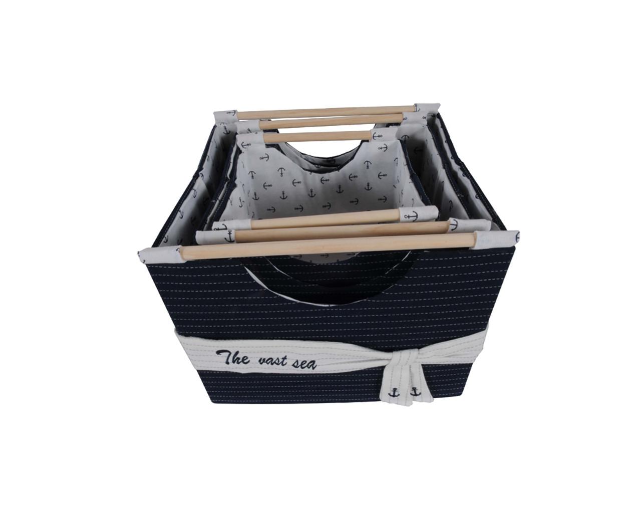Foldable Fabric Baskets - Set of 3