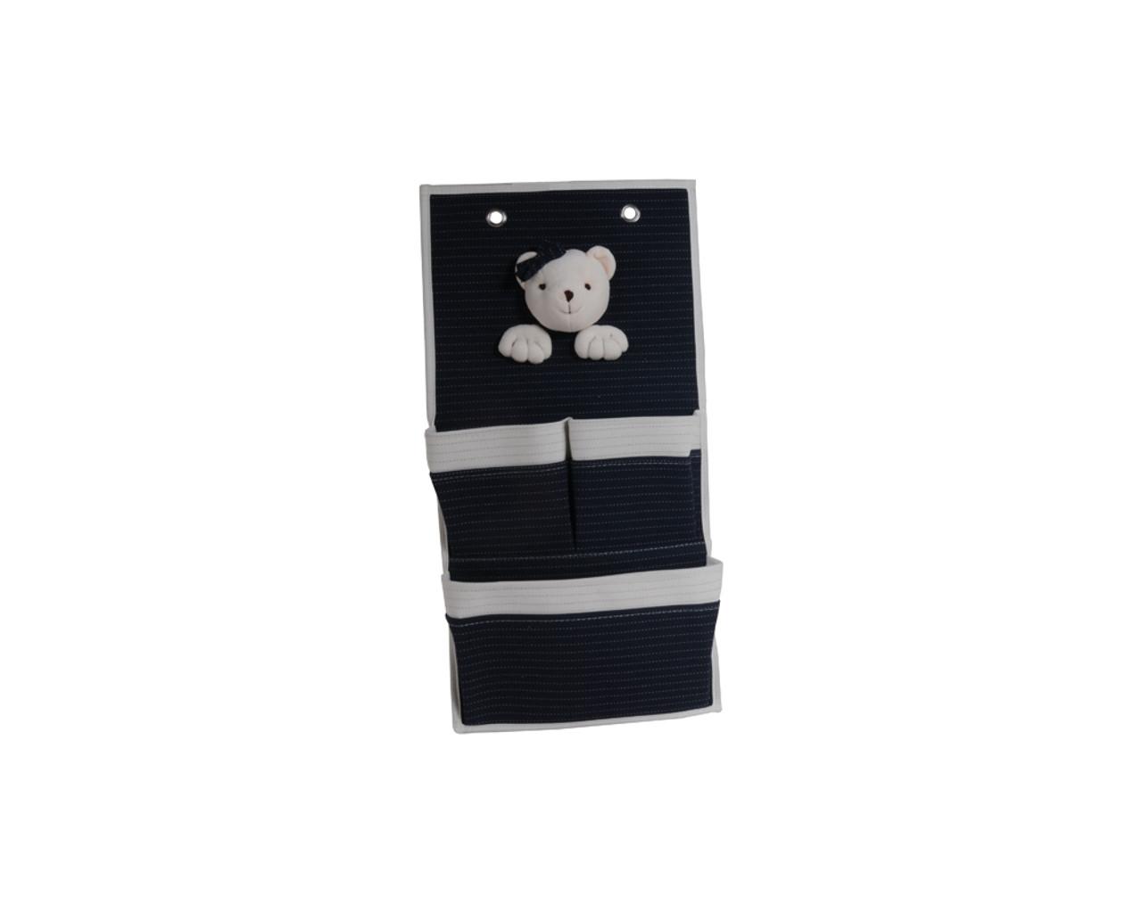 Bear 3-Pocket Wall Hangers - Set of 2