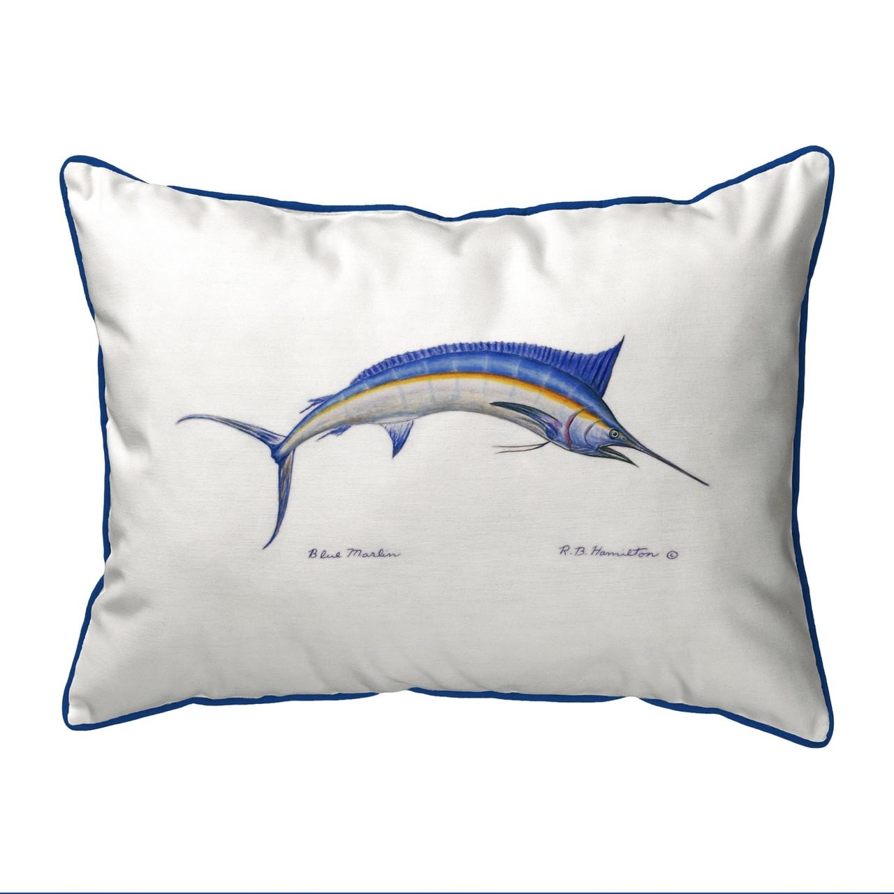 Blue Marlin Pillow
