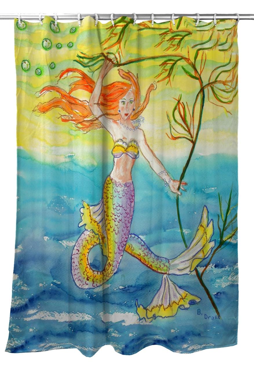 Betsy's Mermaid Shower Curtain