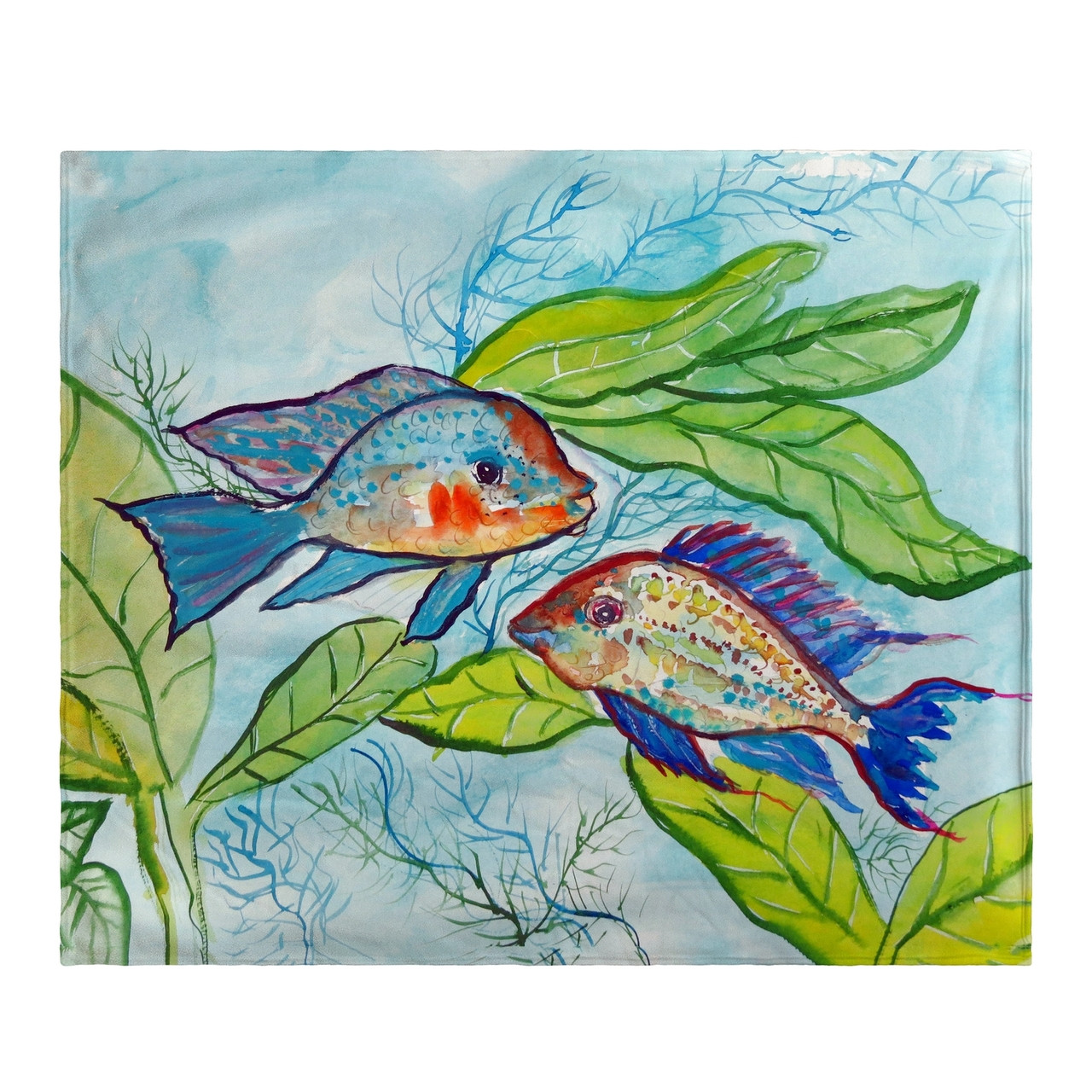 Pair of Fish Fleece Throw