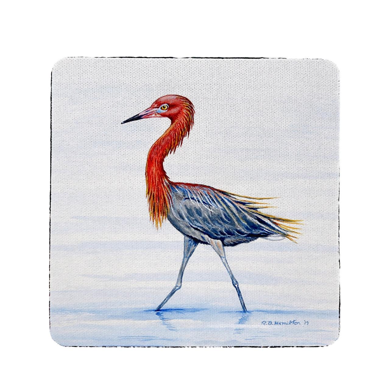 Reddish Egret Coasters - Set of 4