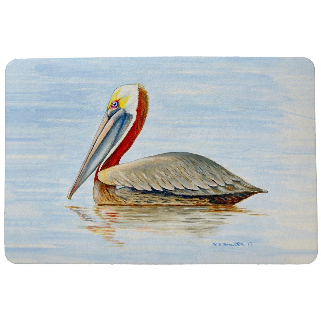 Summer Pelican Door Mat