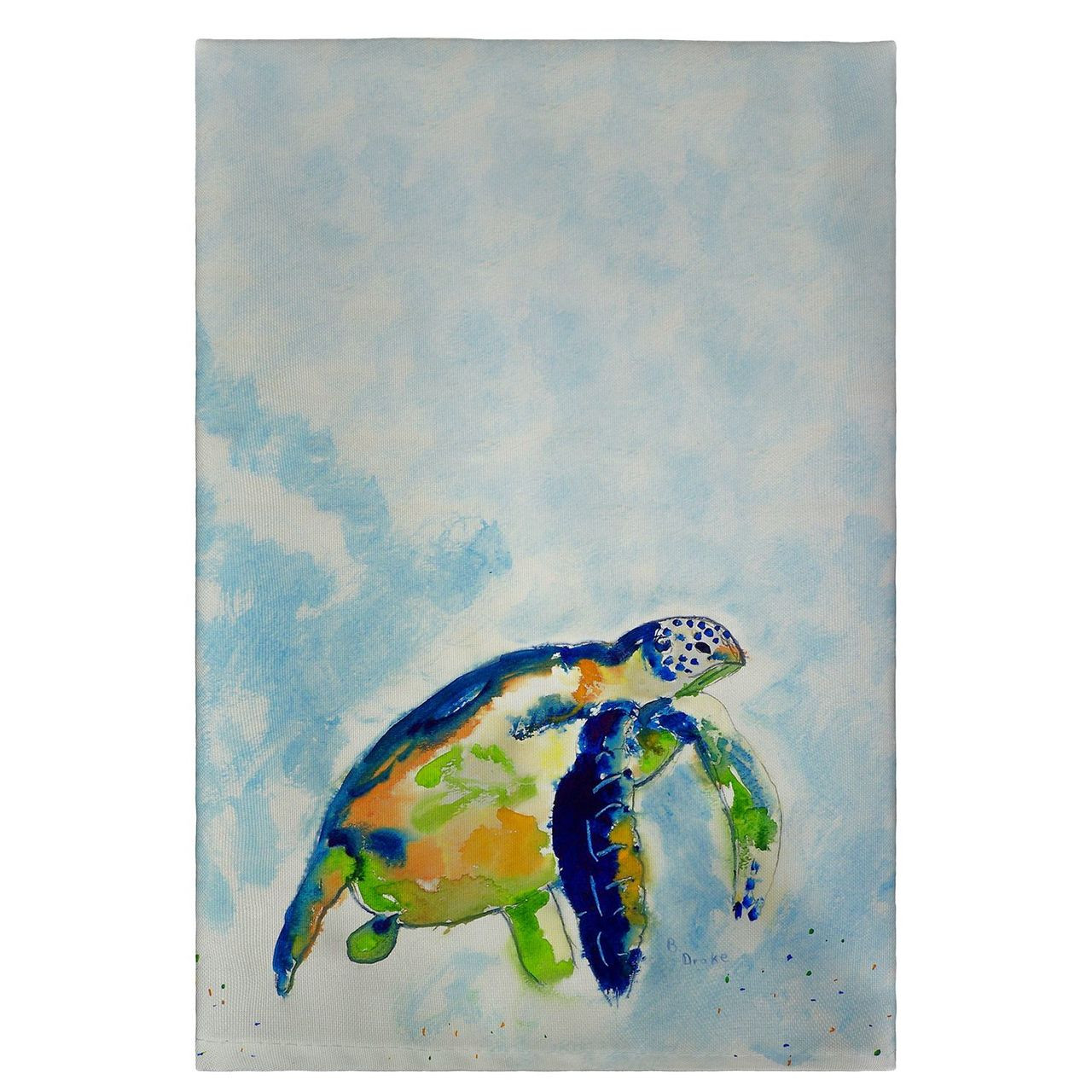 Blue Sea Turtle Guest Towels - Set of 4
