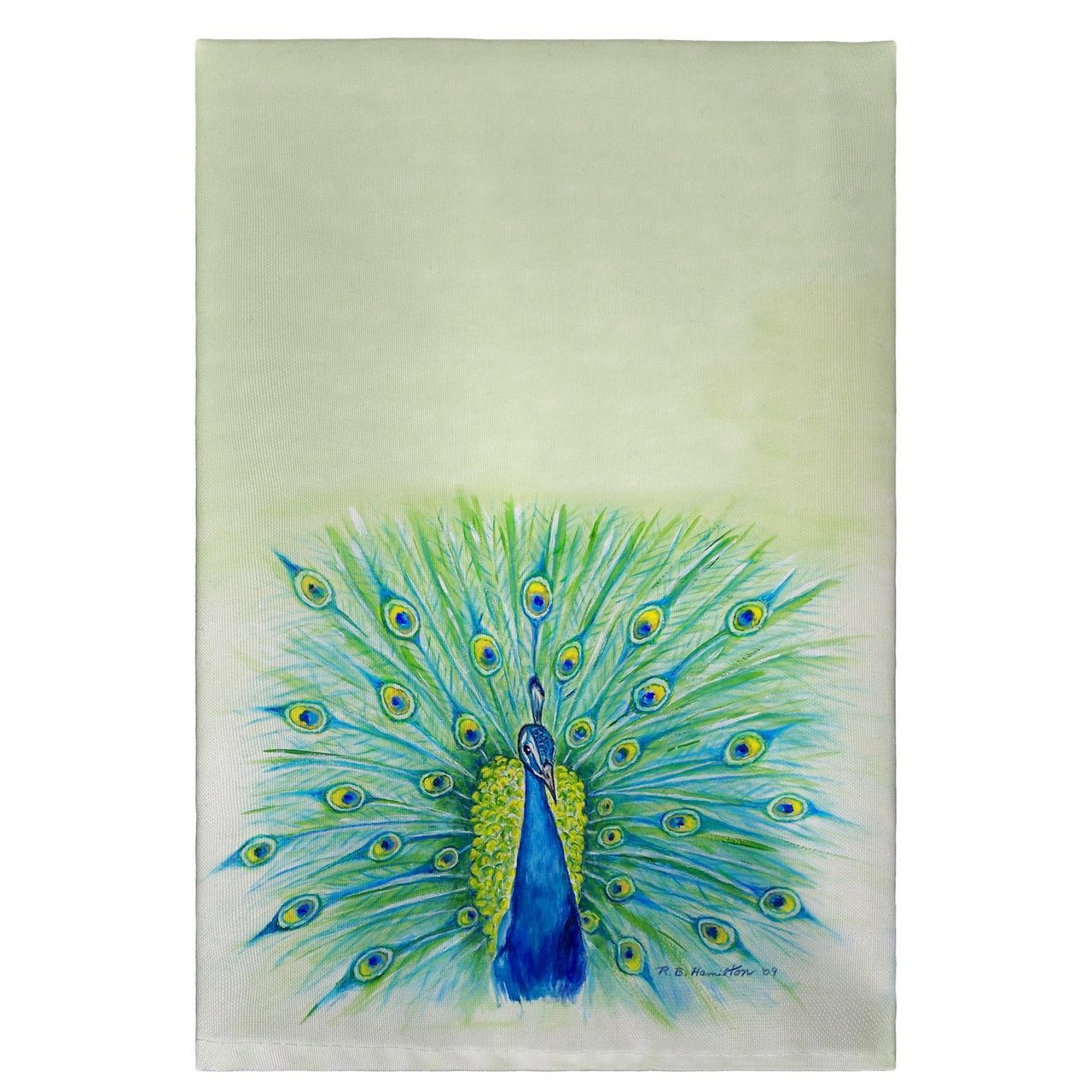 Peacock Guest Towels - Set of 4