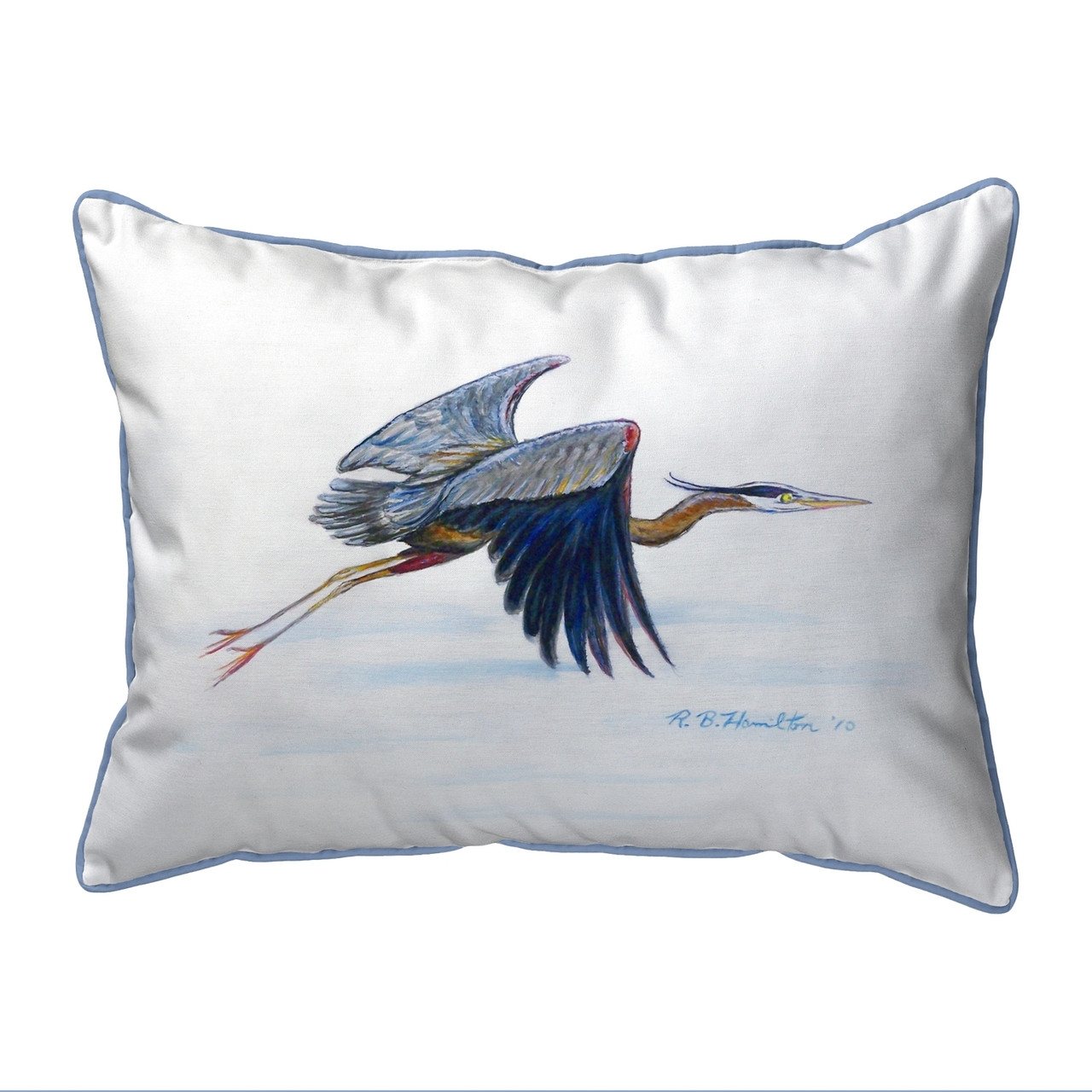 Eddie S Blue Heron Pillows