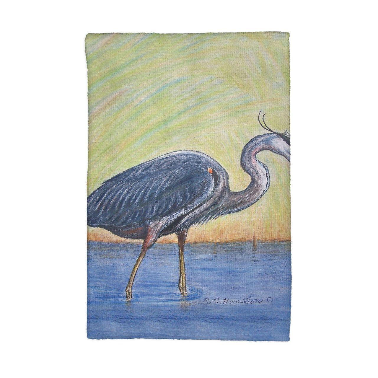 Blue Heron Kitchen Towels - Set of 4