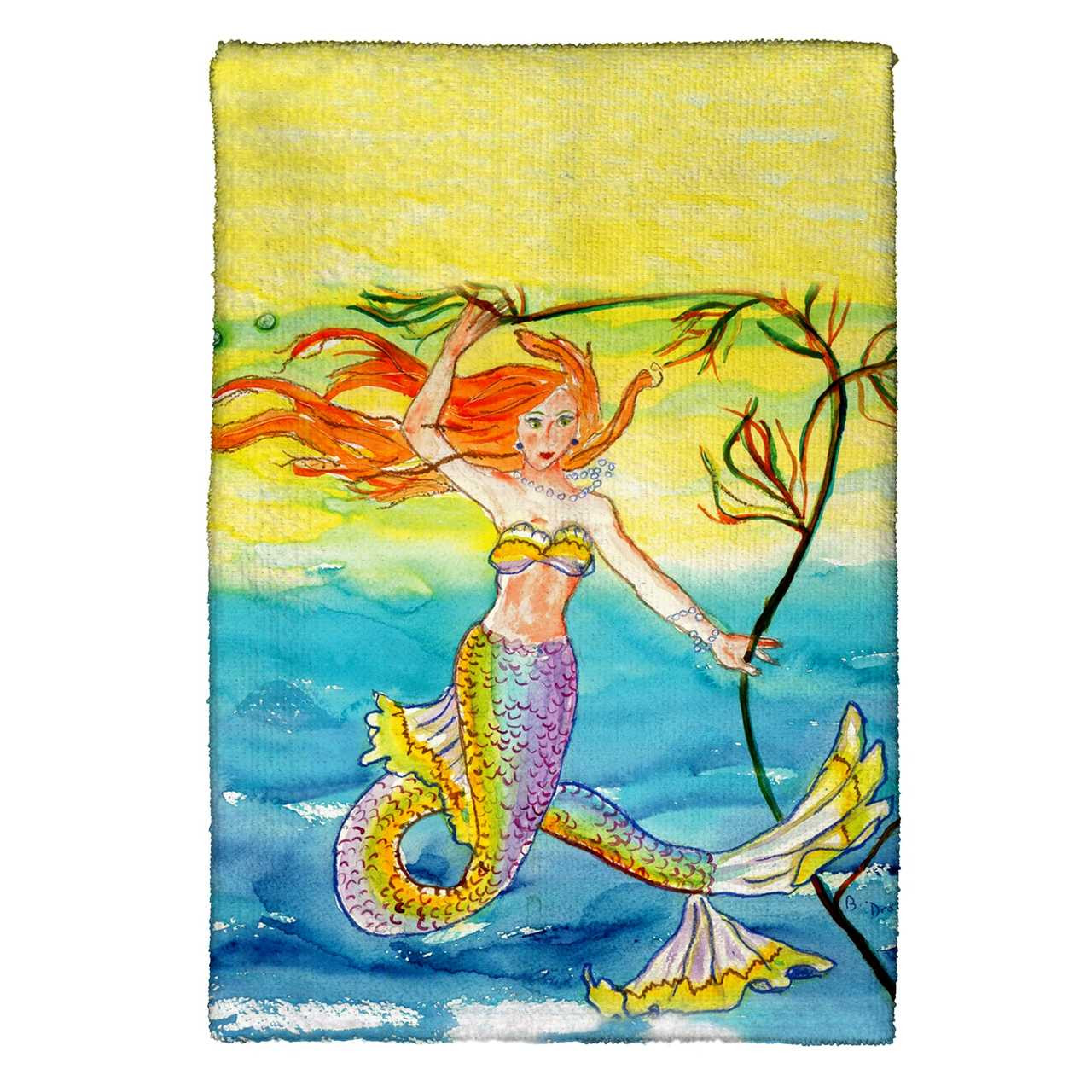 Betsy's Mermaid Kitchen Towels - Set of 4