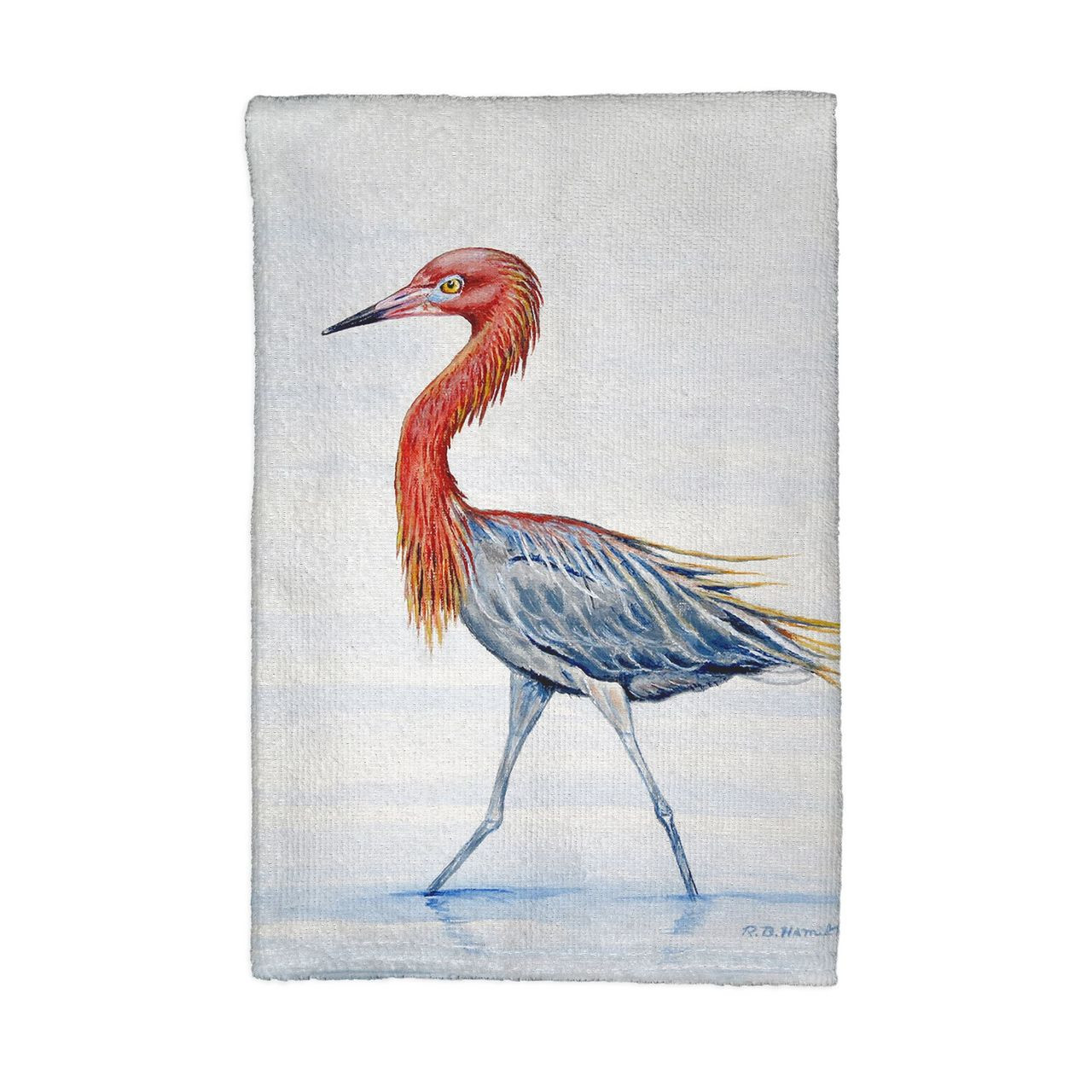 Reddish Egret Kitchen Towels - Set of 4