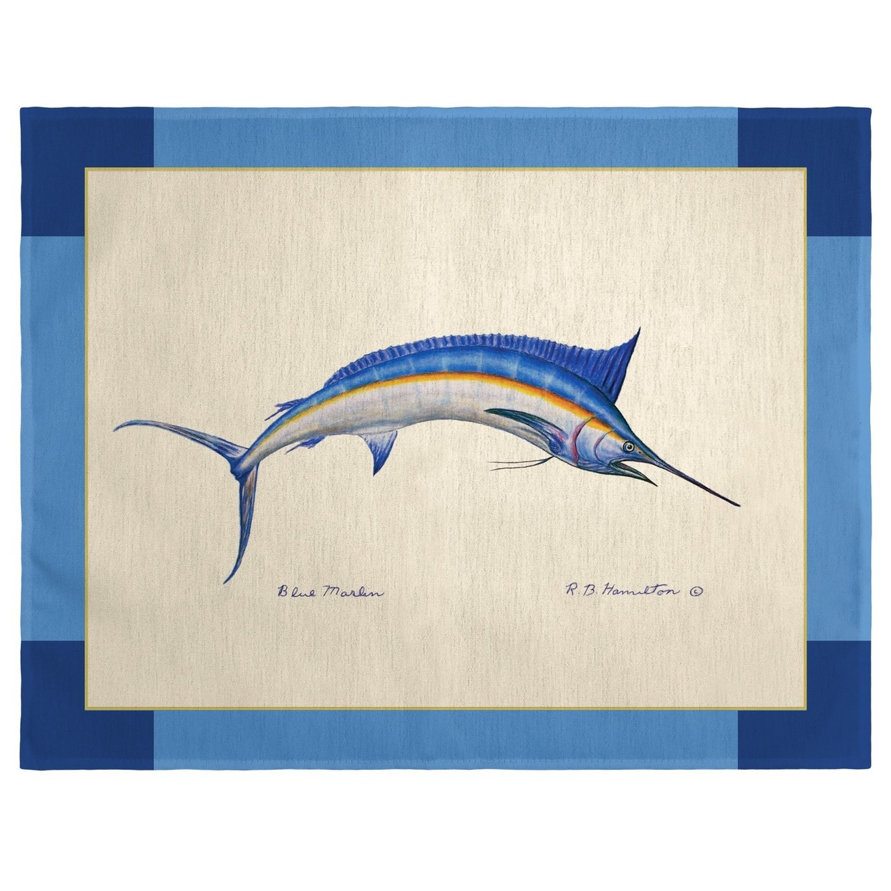 Blue Marlin Place Mats - Set of 2