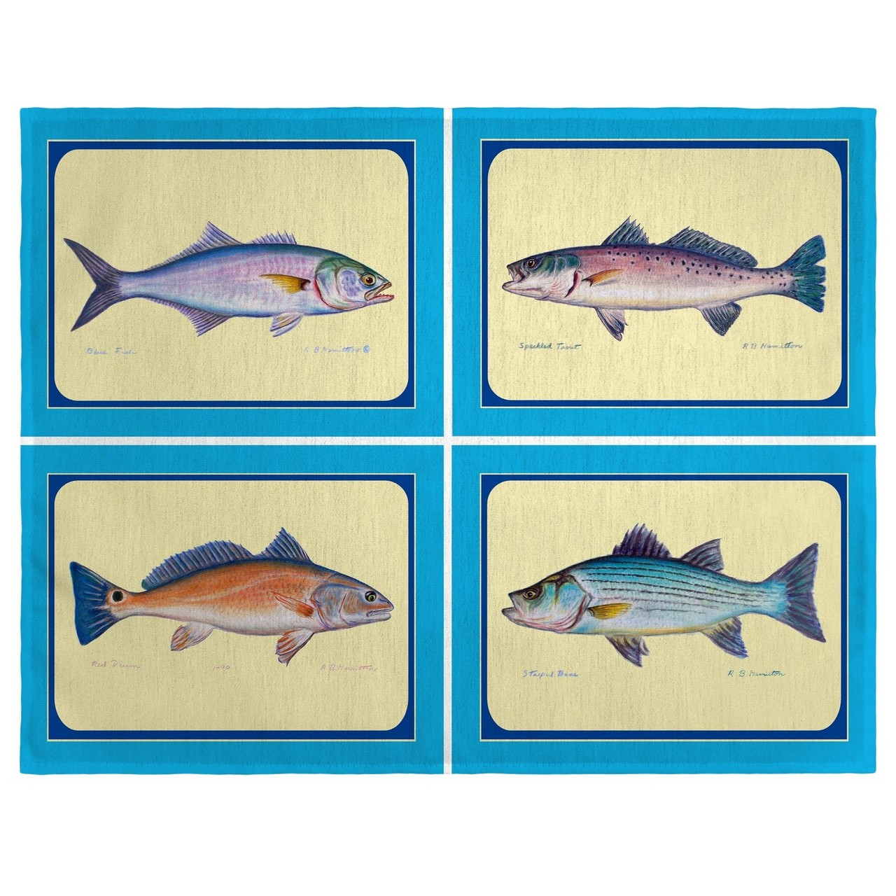 Assorted Fish Place Mats - Set of 2