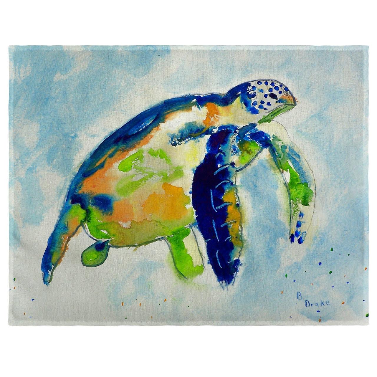 Blue Sea Turtle Place Mats - Set of 2