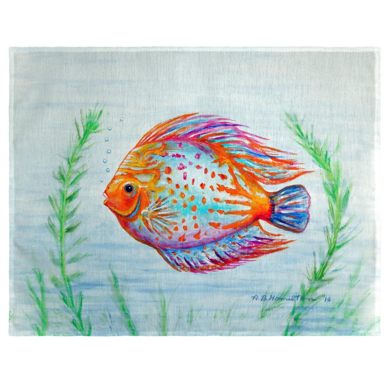 Orange Fish Place Mats - Set of 2