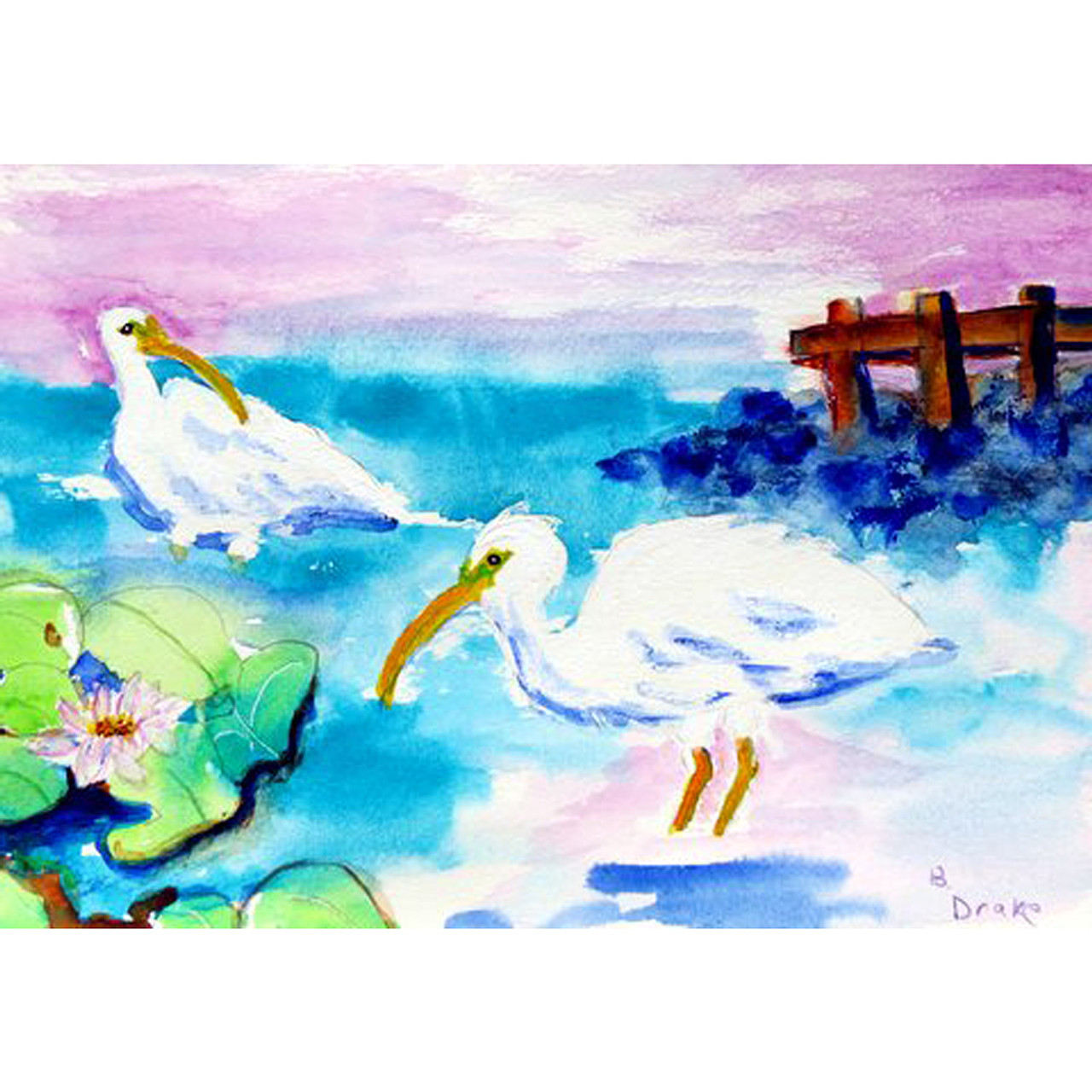 Betsy's White Ibis Place Mats - Set of 2