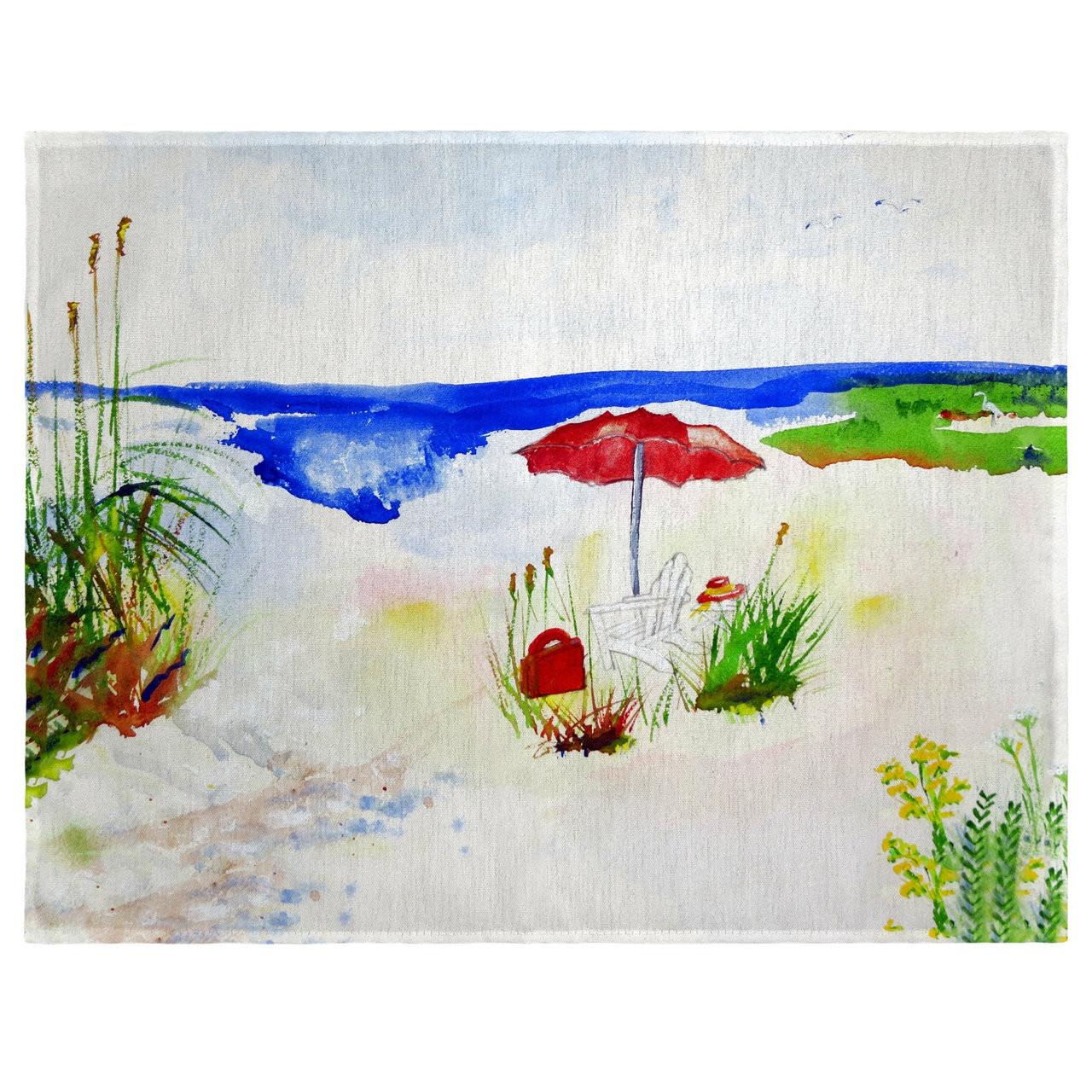 Red Beach Umbrella Place Mats - Set of 2