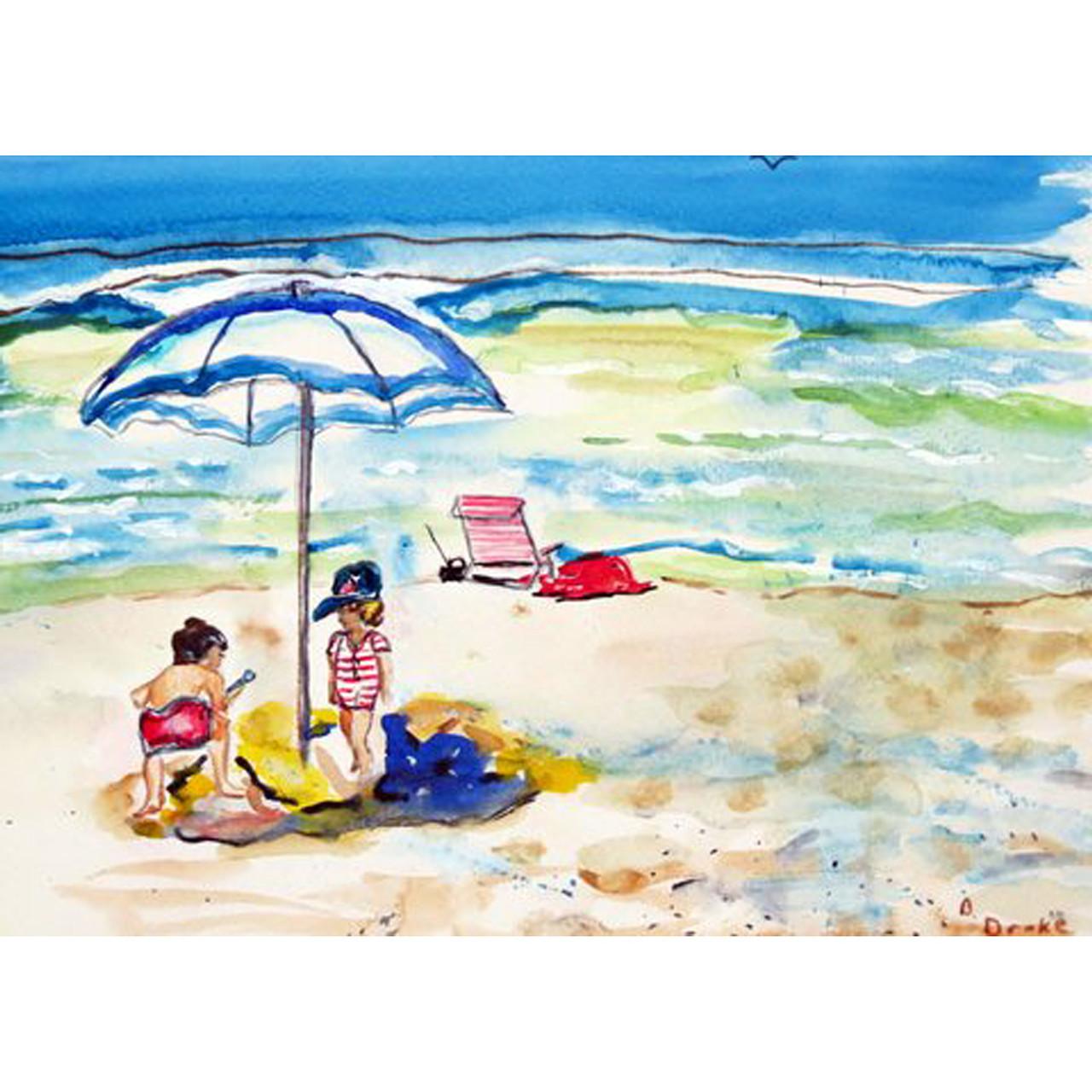 Children At The Beach Place Mats - Set of 2