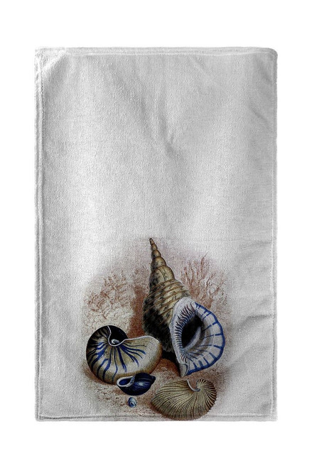 Antique Sea Shells Beach Towel