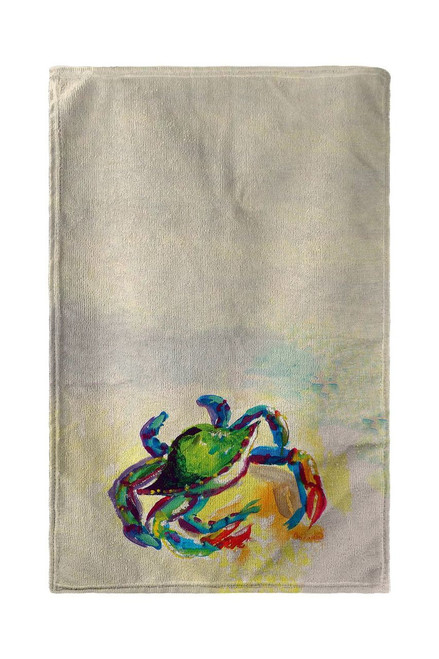 Teal Crab Beach Towel