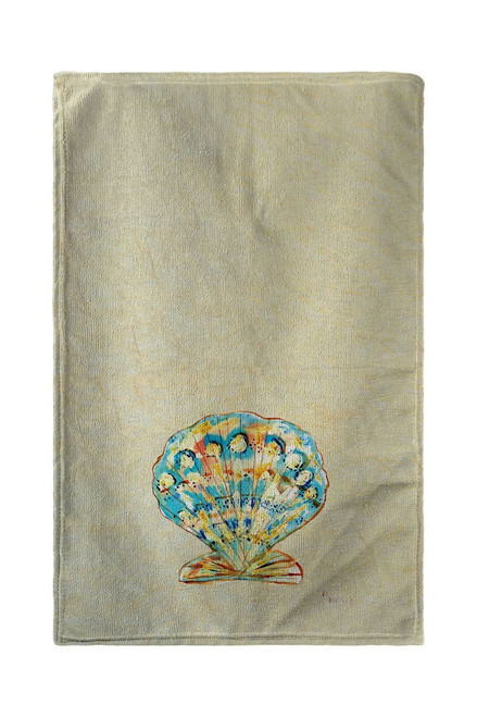 Teal Scallop Shell Beach Towel