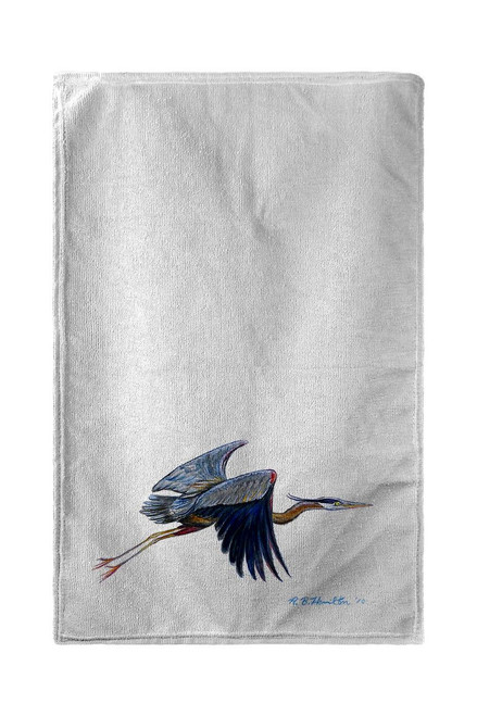 Eddie's Blue Heron Beach Towel