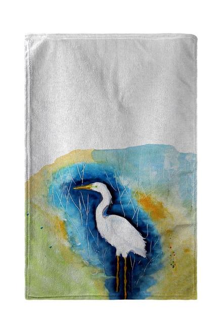 Great Egret - Left Beach Towel