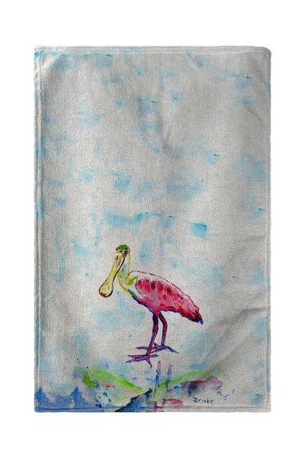 Betsy's Pink Spoonbill Beach Towel