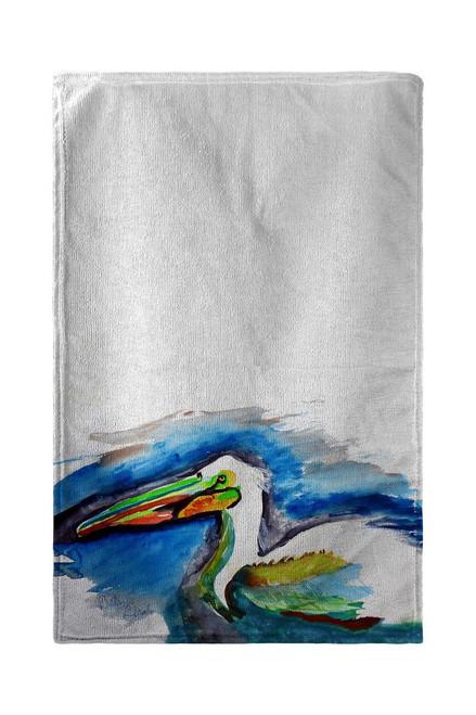 White Pelican Head Beach Towel