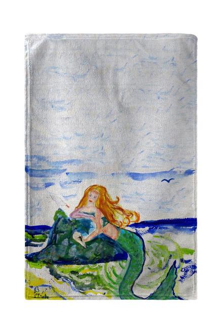 Mermaid on Rock Beach Towel