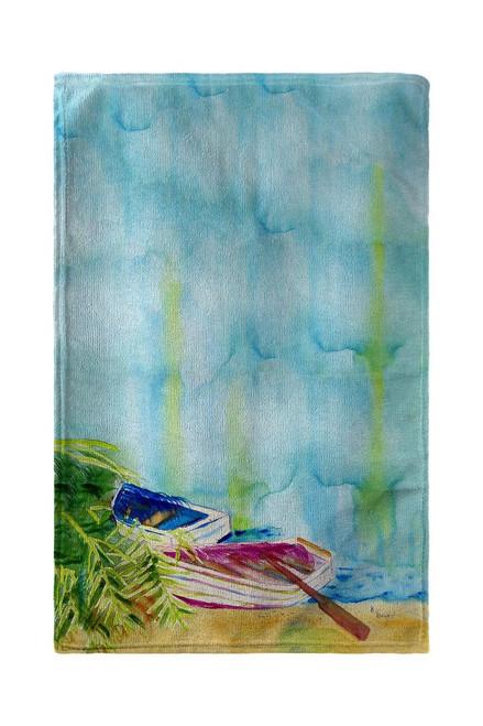 Watercolor Rowboats Beach Towel