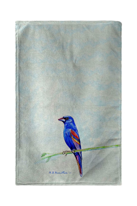 Blue Grosbeak Beach Towel