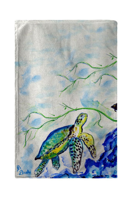 Yellow Sea Turtle Beach Towel