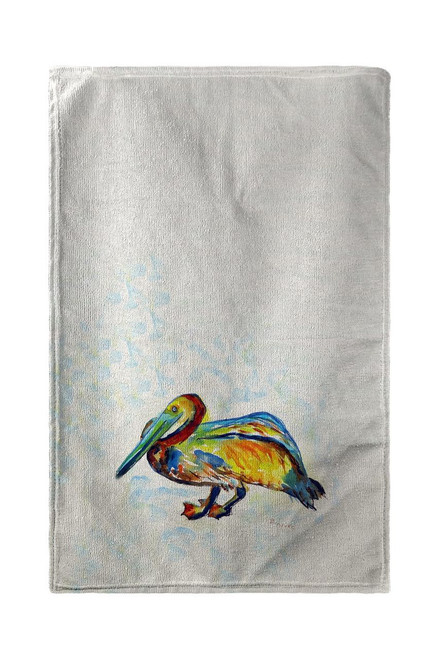 Pelican on Rice Beach Towel