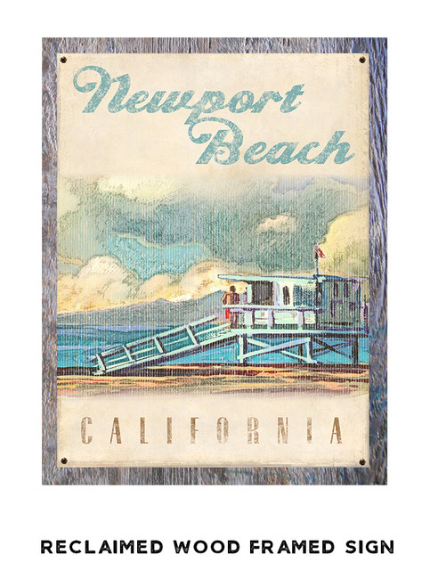 Lifeguard Tower II Personalized Metal Sign