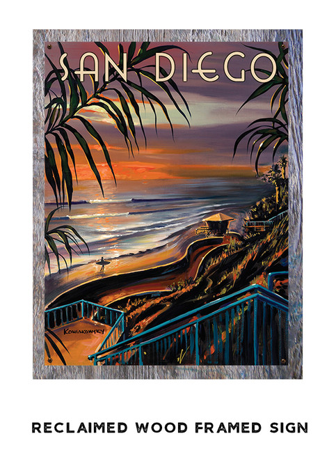 Summer's End Personalized Metal Sign