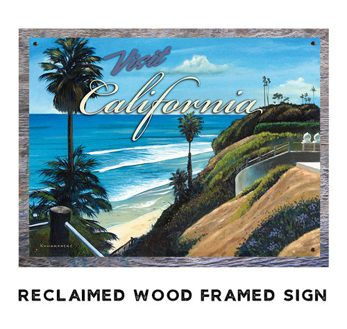Visit California Personalized Metal Sign