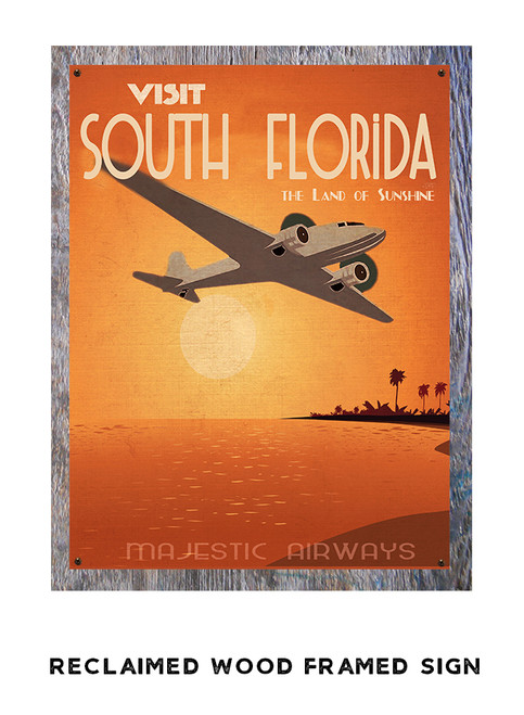 Palm Beach Personalized Metal Sign
