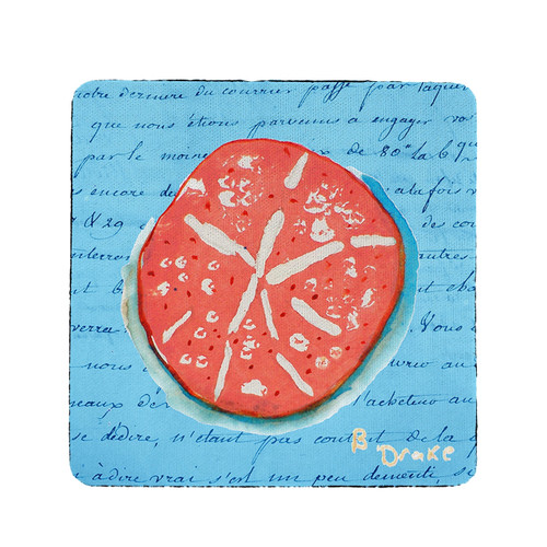 Coral Sand Dollar Coasters - Set of 4