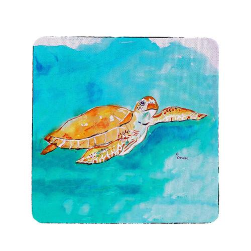 Brown Sea Turtle Coasters - Set of 4