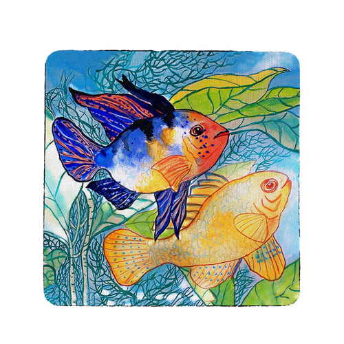 Betsy's Two Fish Coasters - Set of 4