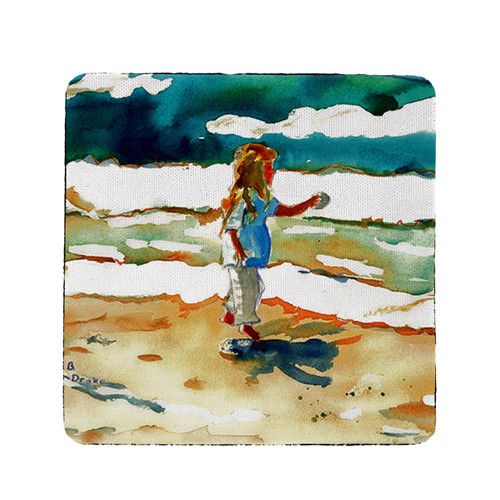 Girl at the Beach Coasters - Set of 4