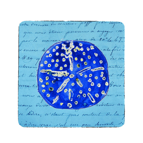 Blue Sand Dollar Coasters - Set of 4