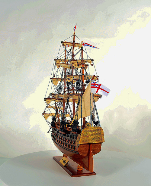 """HMS Victory  19.5"""" with Optional Personalized Plaque"""